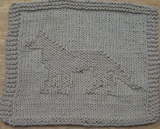 german knitting digknitty designs german shepherd knit dishcloth pattern