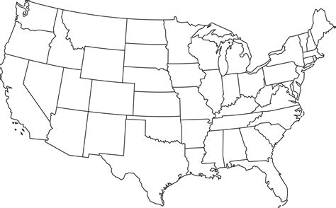 usa map black us map clipart black and white clipground