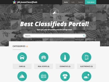 Joomla Template Jm Joomclassifieds Dj Classifieds Template