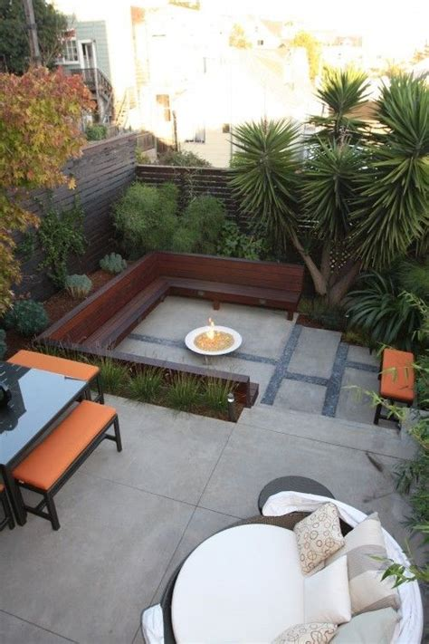 backyard accents back yard ideas dark wood bench sitting area with fire