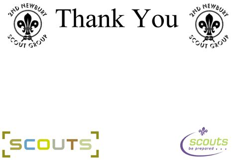 scout thank you card template patrol leader responsibilities 2nd newbury scouts