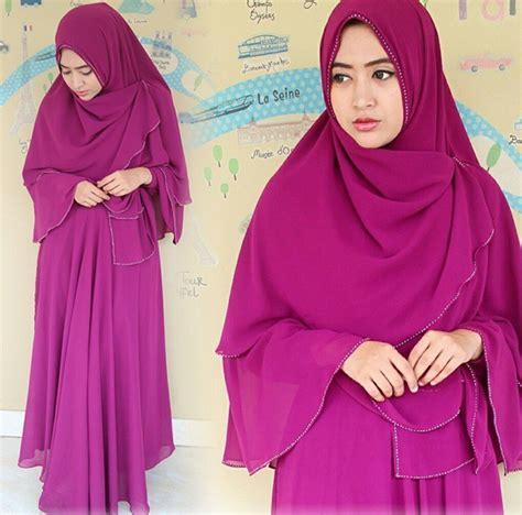Dress Khimar Pasmina Modis Mouslim model khimar yang cantik dan modern modelbusana