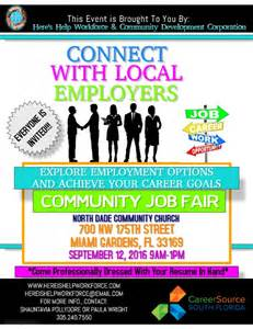 job fair flyer template postermywall