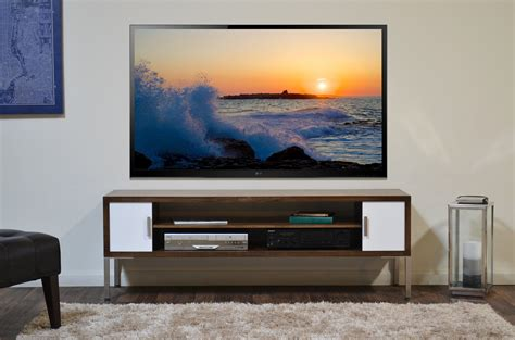 Floating TV Stand   Lotus 3 Piece   Russet Brown   Woodwaves