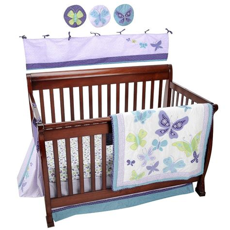 butterfly nursery bedding set butterfly crib bedding sets lambs 6 baby nursery crib