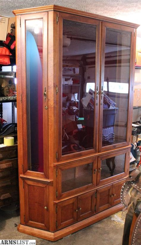 Large Gun Cabinet by Armslist For Sale Solid Large Hardwood Gun Cabinet