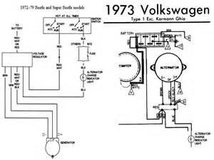 1973 vw beetle alternator wiring diagram 1973 free