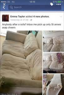sell my couch online mother selling a couch saws it in 3 after facebook joker