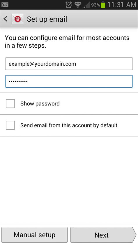 how to setup email on android how to setup sky email account on my android device