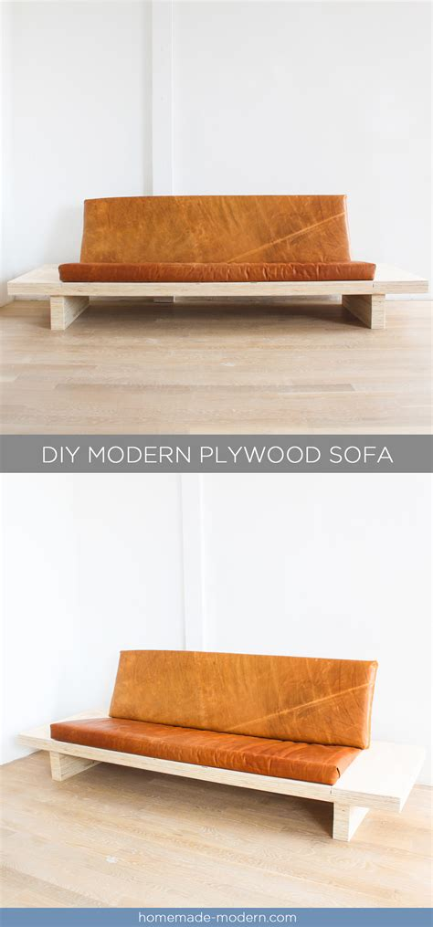 diy plywood sofa homemade modern ep111 plywood table