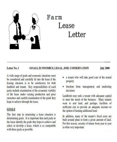 sle lease proposal letter 9 exles in pdf word