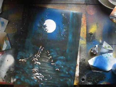 spray paint city tutorial spray paint tutorial moonlit forest
