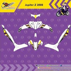 Sticker Striping Motor Stiker Yamaha Jupiter Mx Vr46 Spec B custom decal vinyl striping motor kawasaki z250 thema techno green black berkualitas