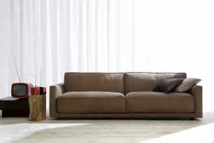 Leather Modern Sofas Modern Leather Sofas Plushemisphere