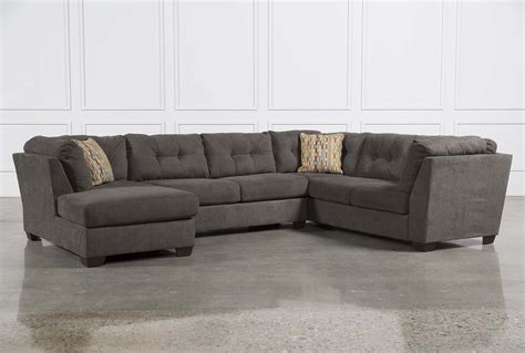 couch pieces delta city steel 3 piece sectional w sleeper left facing