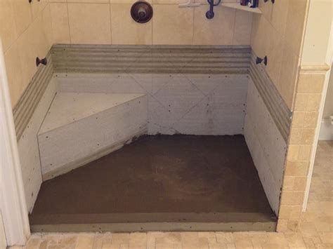 flooring how to build concrete shower pan interior