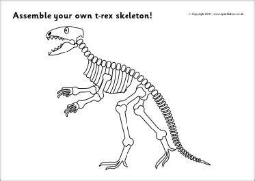 assemble   rex dinosaur skeleton sb sparklebox