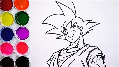 imagenes de criaturas mitologicas para dibujar dibuja y colorea a goku dibujos para ni 241 os learn draw