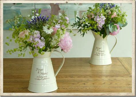 wedding flower jugs cotswold country wedding flowers tradition vintage and simple country styling