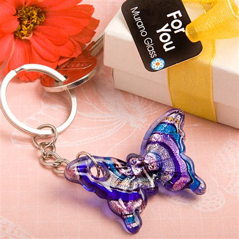 Gamis Bold Butterfly Elblue murano glass collection butterfly keychain