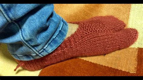 how to knit thumb thumb socks knitting with two needles अ ग ठ व ल