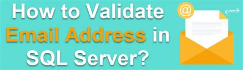 Valid Email Search How To Validate Email Address In Sql Server Question Of The Week 147