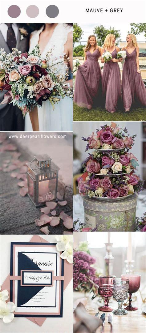 wedding color combos best 6 mauve wedding color combos for 2018 purple