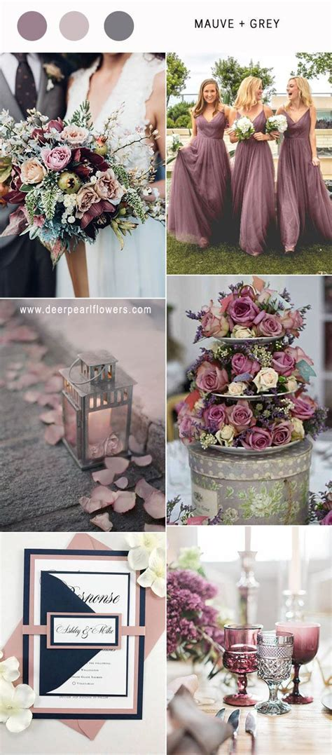 Best 6 Mauve Wedding Color Combos for 2019   Purple