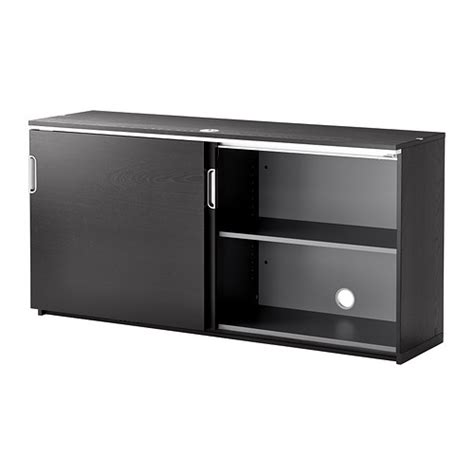 ikea sliding door cabinet galant cabinet with sliding doors black brown 160x80 cm ikea