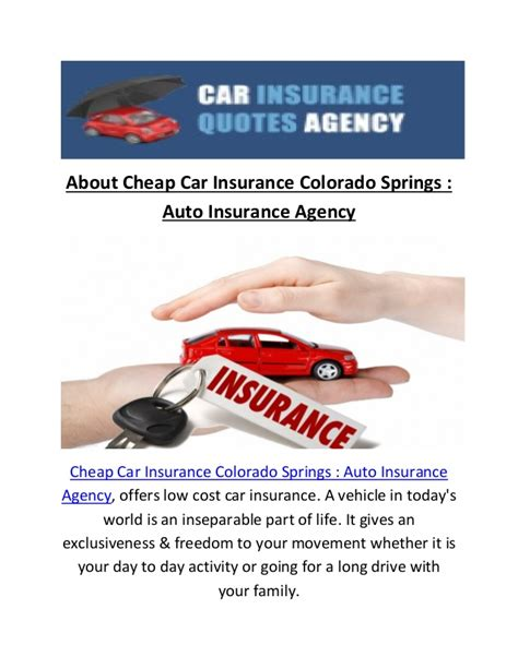 Discount Auto Insurance by Cheap Car Insurance In Colorado Springs Co