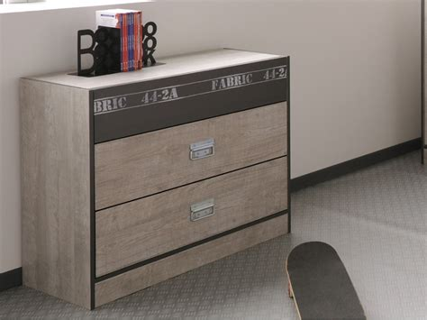 Commode Industrielle 145 by Commode Arnold 3 Tiroirs Ch 234 Ne Et Gris Style Industriel