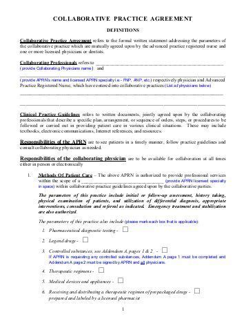 Sle Collaborative Practice Agreement Collaboration Agreement Template
