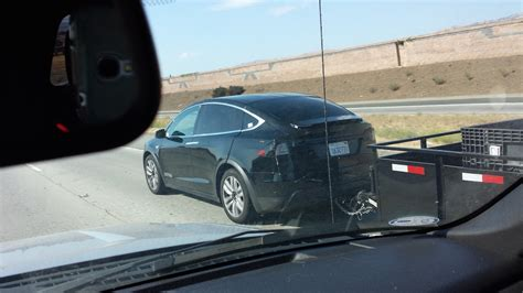 Tesla Model X Towing Capacity Tesla Model X Spotted While Towing A Dump Trailer Testing
