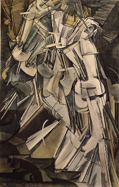 Duchamp Stairs by Marcel Duchamp Paintings