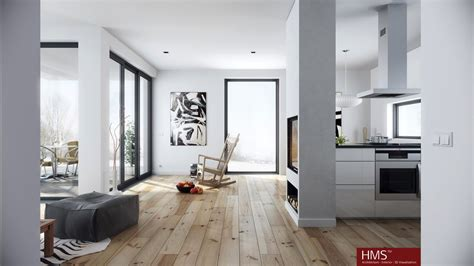 hoang minh nordic style living in wood and white interior design ideas