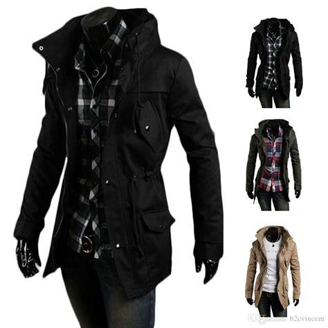 Jaket Navy Winter Jacket Black 100 Original best s5q vintage coat slim trench jackets warm winter parka hoodie aaadxk