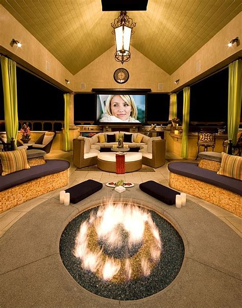 backyard home theater this outdoor theater will make your house the gathering