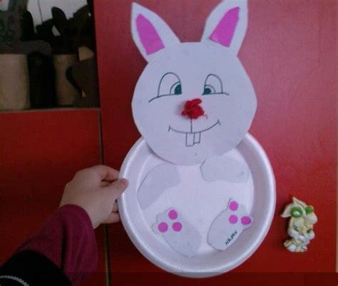 Bunny Paper Plate Craft - preschool crafts and worksheets