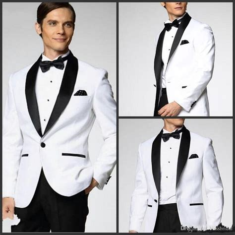 17 Best ideas about White Tuxedo Wedding on Pinterest
