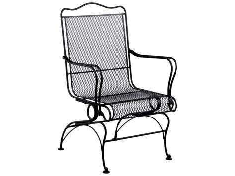 Iron Patio Chair Woodard Tucson Wrought Iron High Back Coil Chair Wr1g0066