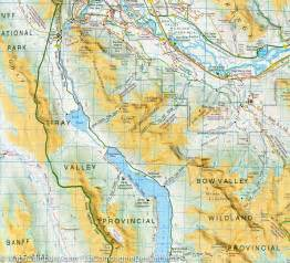 region map of canmore and kananaskis alberta gem trek