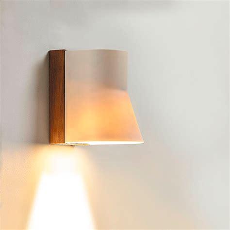 bcnww beacon teak white porcelain led wall light