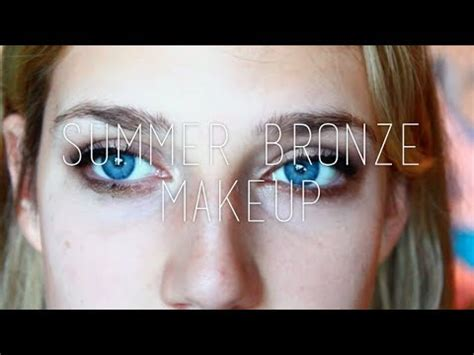 light blue eyeshadow palette gold bronze summer makeup tutorial make blue eyes pop