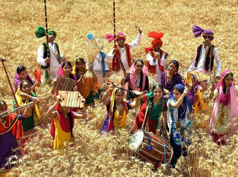 Orange Color Scheme For baisakhi festival its history celebration in india and
