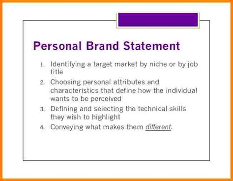 4 Personal Branding Statement For Students Case Statement 2017 Brand Statement Template