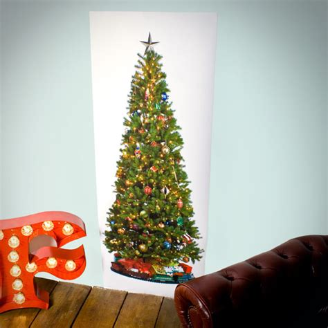 printed christmas tree poster