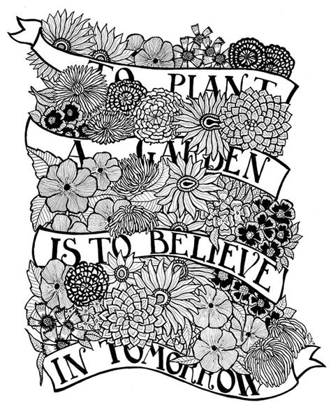 herb garden coloring pages 1303 best adult coloring line art images on pinterest