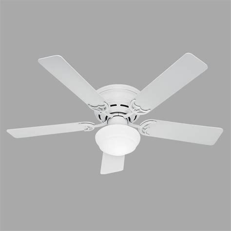 low profile white ceiling fan with light low profile iii plus 52 in indoor white ceiling fan with light kit 53075 the home depot