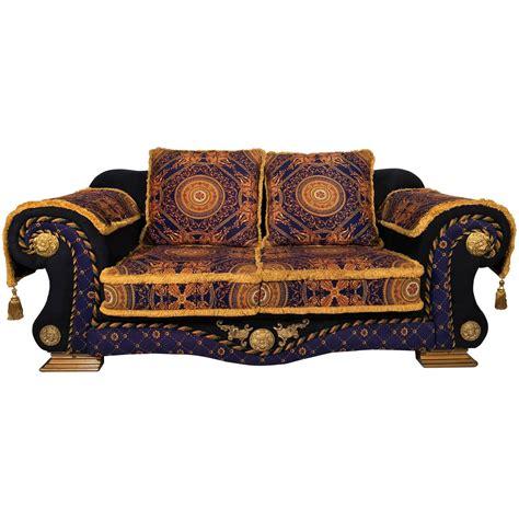 versace sofas 1980 italian design n 233 o barocco velvet sofa versace