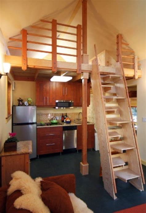 small house with loft tiny house loft with space saving stairs small space